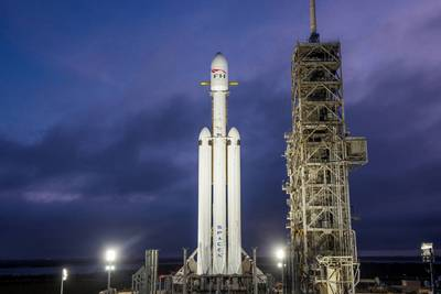 запуск Falcon Heavy