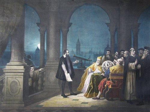 Галілей демонструє свій телескоп