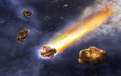 комета та астероїд