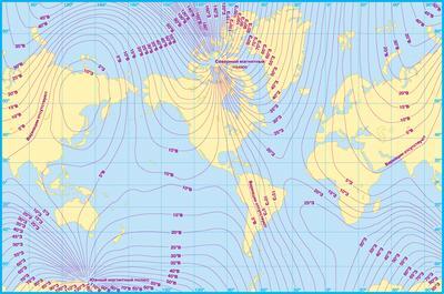 Магнітна карта Землі