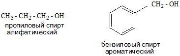 алифатические и ароматические спирты