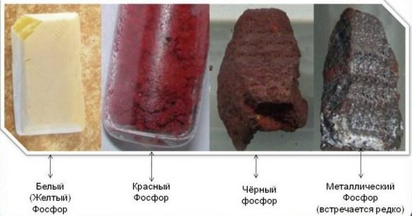 види фосфору
