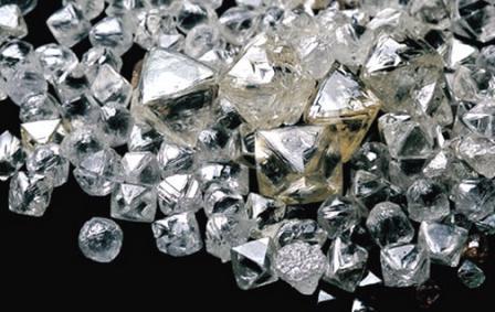 Кристаллы алмаза