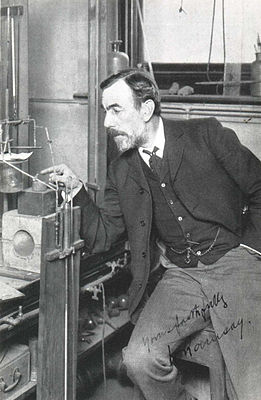 William Ramsay in his laboratory