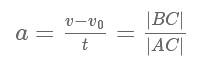формула прискорення