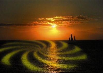 Светящиеся колеса тропических морей