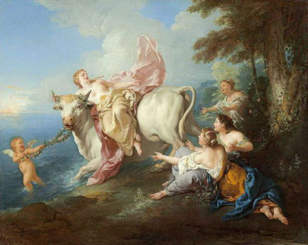 The abduction of Europe by Zeus