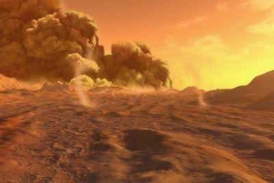 пыль на Марсе