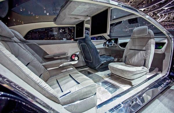 автомобиль будущего внутри