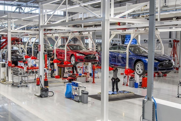 производство автомобилей тесла