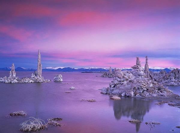 фіолотове озеро в Каліфорнії