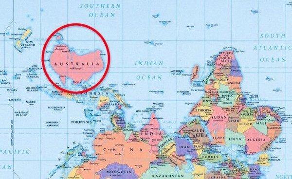 Австралийская карта